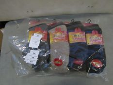 PK of 12 Mens Winter Thermal Socks size 6-11 New & Packaged