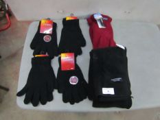 7 X Items Being,5 X Pairs of Thermal Gloves & 2 X Scarves ( See Image )
