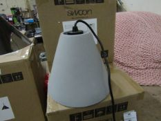 | 1X | SWOON HEBE PENDANT LIGHT IN NATURAL CONCRETE | UNCHECKED AND IN ORIGINAL BOX | RRP £69 |