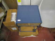 | 1X | SWOON NEPTUNE BLUE BED SIDE TABLE | UNCHECKED WITH ORIGINAL BOX | RRP £149 |