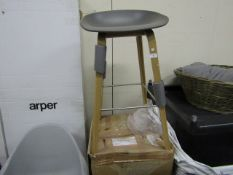 | 1 X | HAY OAK AND GREY STOOL | LOOKS UNUSED (NO GUARANTEE) AND BOXED | RRP CIRCA £230.00 |