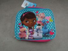 2x Disney - Doc Mcstuffins Lunch Bags - Unused With Original Tags.