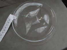 2x Large Glass Plate - New, Good Condition.
