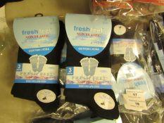 12 X Pairs of Ladies Fresh Feel Socks Size 4.6.5 New in Packaging
