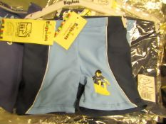 5 X Childs Playshoes Swim Shorts Aged 3-4yrs all New in Packaging