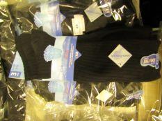 12 X Pairs of Mens Long Fresh Feel Socks Size 11-14 New in Packaging