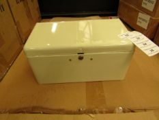 2 x Metal Cream Towel Dispensers (wall mounted) with Fixings & Keys. New & boxed