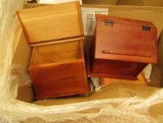 Wooden Recipe Box. Unused & Boxed