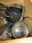 Set of 8 Circulon Pans with 5 Lids. These have been used