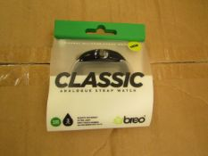6 x Breo Classic Analogue Strap Watch. Packaged