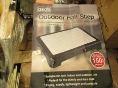Asab Outdoor Haf Step. Boxed but unchecked