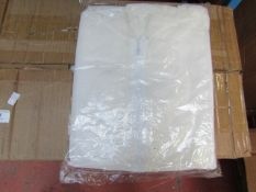 10x Disposable Coverall - White - Size 2XL - New & Packaged.