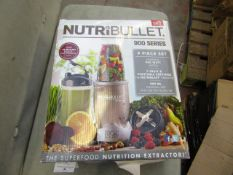 | 5X | NUTRI BULLET 900 SERIES | UNCHECKED AND BOXED | NO ONLINE RE-SALE | SKU C5060191467353 |