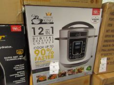 | 5X | PRESSURE KING PRO 12 IN 1 5LTR | UNCHECKED AND BOXED | NO ONLINE RESALE | RRP £79.99 |