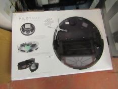 Pilot Max robot vacuum cleaner, powers on but not tested all functions and boxed. RRP £195.00