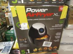 | 7X | POWER AIR FRYER 5L | UNCHECKED AND BOXED | NO ONLINE RE-SALE | SKU C5060191466936| RRP £69.99