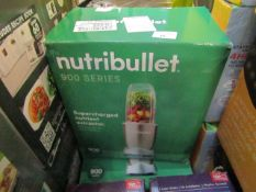 | 1X | NUTRI BULLET 900 SERIES | UNCHECKED AND BOXED | NO ONLINE RE-SALE | SKU C5060191467353 |