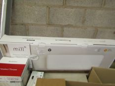 Mill WiFi electric heater, powers on but not tested all functions and boxed. RRP £100.00