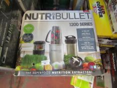 | 3X | NUTRI BULLET 1200 SERIES | UNCHECKED AND BOXED | NO ONLINE RESALE | RRP £120.00 | TOTAL