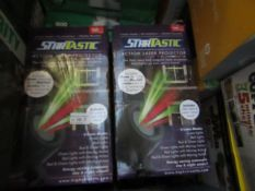 | 4X | STARTASTIC ACTION LASER PROJECTOR | UNCHECKED AND BOXED | NO ONLINE RESALE | SKU - | RRP £