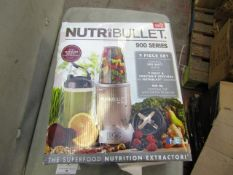 | 4X | NUTRI BULLET 900 SERIES | UNCHECKED AND BOXED | NO ONLINE RE-SALE | SKU C5060191467353 |