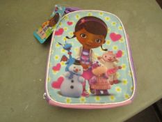 5 x Disney Junior - Doc Mcstuffins Fabric Lunch Box RRP £5.49 each- New & Packaged.