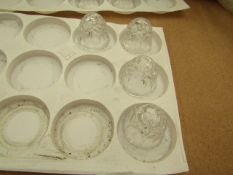 21x Clear Glass Candle Holder (Taper Candle) - All Unused.