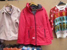 Anne De-lancay Ladies Coat Red Size M Pre-Owned