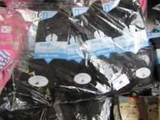 12 X Pairs of Ladies Cotton Lycra Socks Black Size 4-6.5 New in Packaging