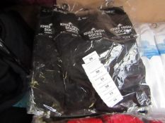 12 X Pairs of Knee High Girls Socks Size 9-12 Black New in Packaging