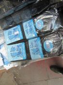 12 X Pairs of Cotton Lycra Socks Black Size 6-11 New in Packaging