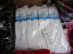 12 X Pairs of Knee High Girls Socks Size 12.5 to 3.5 White New in Packaging