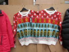 Marcopolo Christmas Twin Jumper Fits 2 People New With Tags
