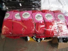 PK Containing 24 Pairs of Girls Tights Various Ages All Red New & Packaged