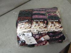 12 X Ladies Lambs Wool Socks Size 4-7 New in Packaging