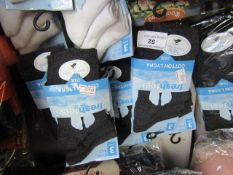18 X Cotton Lycra Socks Size 9-12 Dark Grey New in Packaging