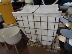 | 1x | MADE.COM MOSS LAUNDRY BASKET | UNCHECKED IN ORIGINAL BOX | RRP £45 |