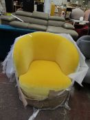 | 1X | SWOON RITZ PRIMROSE VELVET TUB CHAIR | IN GOOD CONDITION BUT APPEARS A BUT FADED ON THE