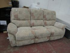 | 1X | 3 SEATER FABRIC LA Z BOY MANUAL RECLINING SOFA IN VERY GOOD CONDITION, COMES WITH ORIGINAL