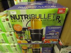 | 3X | NUTRI BULLET RX | UNCHECKED AND BOXED | NO ONLINE RESALE | SKU - | RRP £119.99 | TOTAL LOT