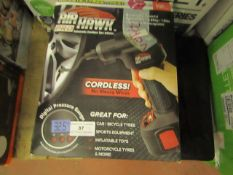 | 4X | AIR HAWK CORDLESS TYRE INFLATOR | UNCHECKED AND BOXED | NO ONLINE RE-SALE | SKU