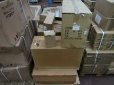 Pallet of verious bathroom accessories, toilet brush holders & soap dispenser, All boxed