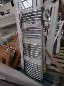 Loco curved towel radiator 500 x 1400, ex-display and boxed. Please note, this lot may contain marks