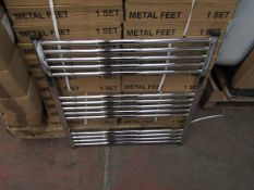 Loco straight towel radiator 300 x 1000, ex-display and boxed. Please note, this lot may contain