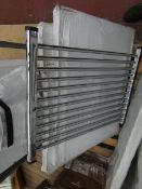 Loco horizontal towel radiator 800 x 600, ex-display and boxed. Please note, this lot may contain