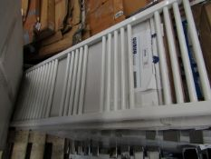 Loco straight towel radiator 500 x 1400, ex-display and boxed. Please note, this lot may contain