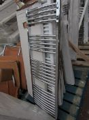 Loco curved towel radiator 1400 x 500, ex-display and boxed. Please note, this lot may contain marks