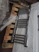 Loco straight towel radiator 300 x 800, ex-display and boxed. Please note, this lot may contain