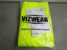 2x Vizwear - Hi-Vis Yellow Polycotton Trousers - Size 3XL - Unused & Packaged.