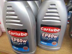 5x Carlube - EP80w Hypoid Gear Oil - 500ml - Unused.